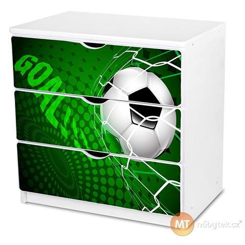 Dětská komoda s fotbalovým míčem