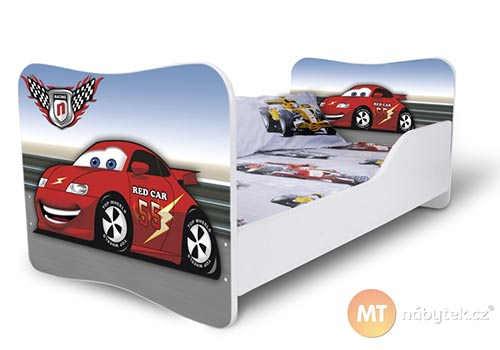 Dětská postel pro kluky s autíčkem