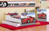 Dětský pokoj pro kluky s autíčkem F1 red cars