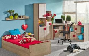 Dětský pokoj s postelí a psacím stolem Allarica 6