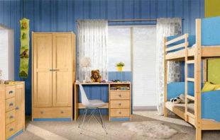 Dětský pokoj z masivu Herry s patrovou postelí