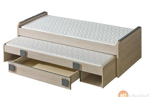 Jednolůžková dětská postel s přistýlkou