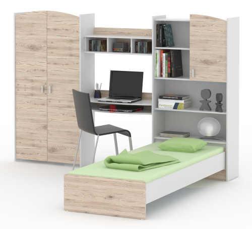 Univerzální sestava nábytku do dětského pokoje dub sonoma