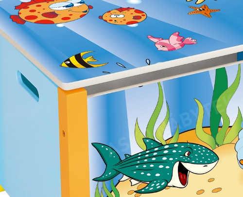 Veselá truhla na hračky podmořský svět