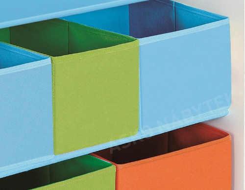 Barevné plátěné krabice na hračky
