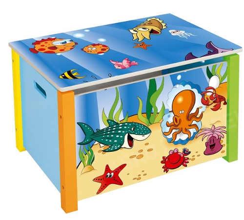 Barevný úložný box na hračky Oceán