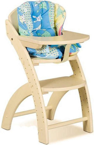 Dětská dřevěná rostoucí židle s pultíkem