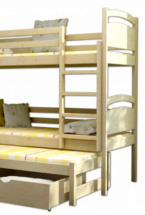 Dětská poschoďová postel s přistýlkou