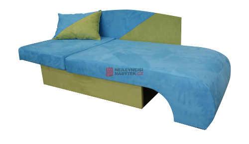 Dětské rohové křeslo rozložené na postel