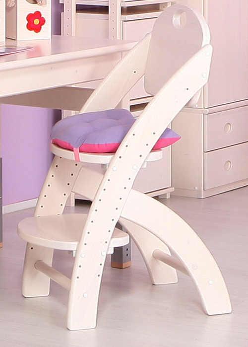 Fialovo růžový sedák na dětskou jídelní židli