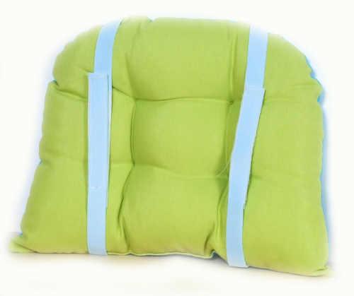 Zeleno modrý měkký podsedák do dětské židle
