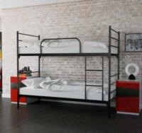Kovová praktická rozkládací postel 2v1 - patrová kovová postel