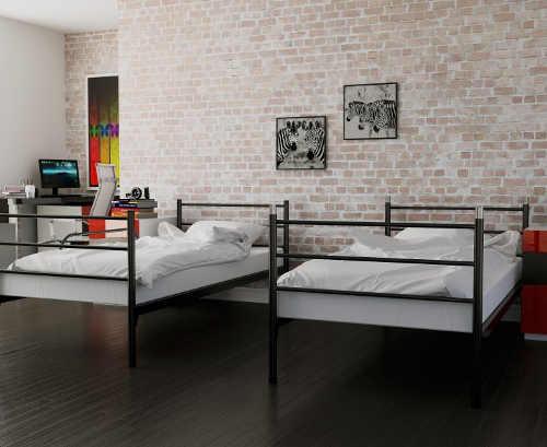 Kovová rozkládací postel 2v1
