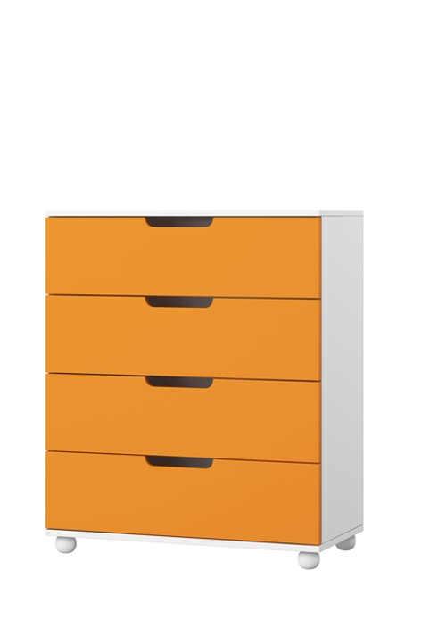Oranžovo-bílý set nábytku do dětského pokoje