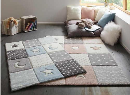 Pěkný a praktický koberec do dětského pokoje