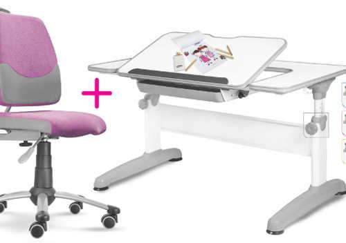 Rostoucí set pro dítě - židle a psací stůl