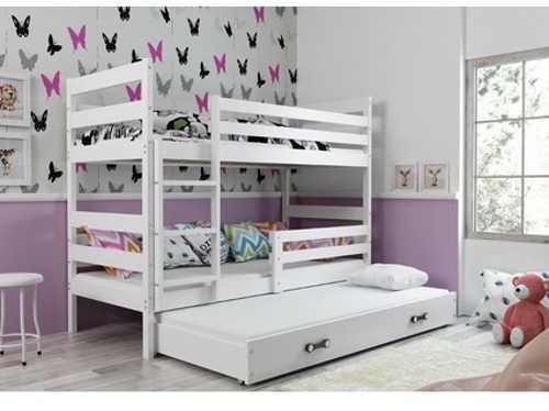 Stylová dětská patrová postel s přistýlkou