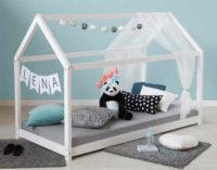 Bílá dřevěná dětská postel domeček Lena