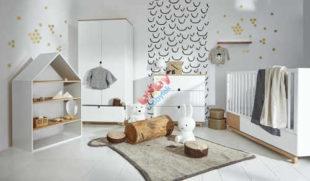 Bílý nábytek do dětského pokoje pro miminko