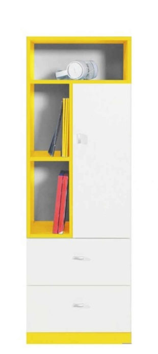 Dětská bílo-žlutá skříňka s regálem Asko MOBI 7