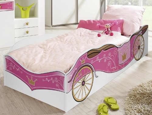 Dětská postel auto pro holčičku královský kočár
