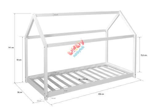 Dětská postel domeček 200x90 cm