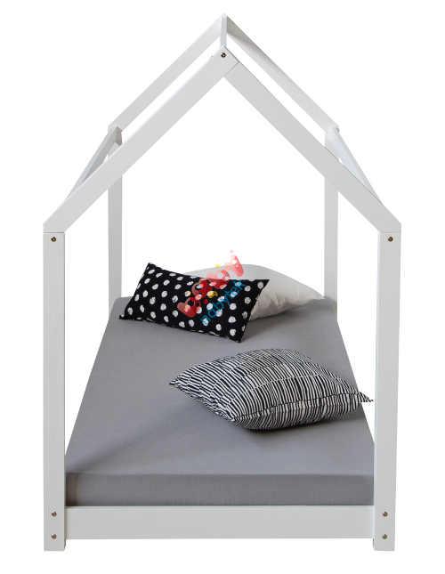 Dětská postel domeček s nízce umístěnou matrací