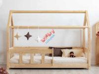 Dětská postel domeček se zábranou Mila Classic