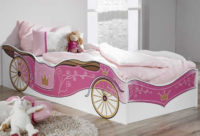 Dětská postel pro princezny královský kočár