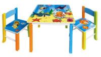 Dětský set jídelní nábytku s obrázky oceánu