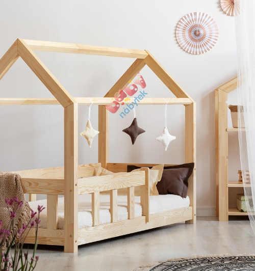 Domečková dřevěná postel do dětského pokoje