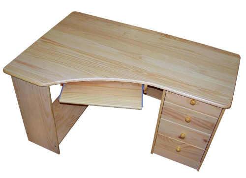 Dřevěný PC stůl do rohu