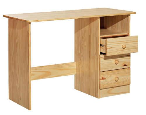Dřevěný pracovní stůl se třemi šuplíky