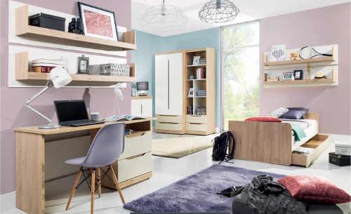 Moderní nábytek do studentského pokoje Smile sestava A