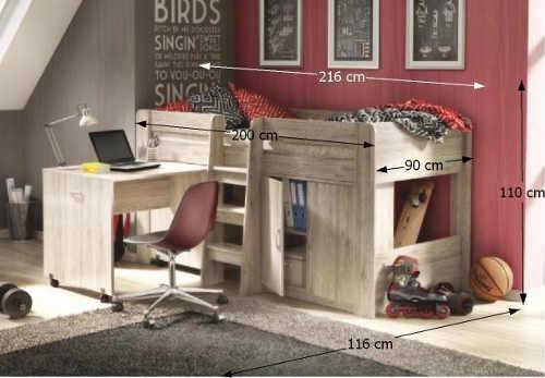Univerzální multifunkční postel do menších dětských pokojů