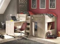 Víceúčelová postel s psacím stolem do dětského pokoje