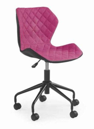 Černo-růžová otočná studentská židle k PC stolu