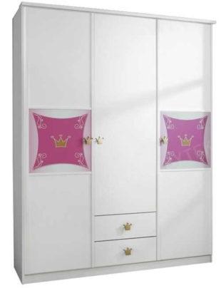Dětská šatní skříň do pokoje malé princezny