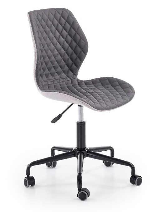 Pohodlná dětská tmavě šedá otočná židle Uber