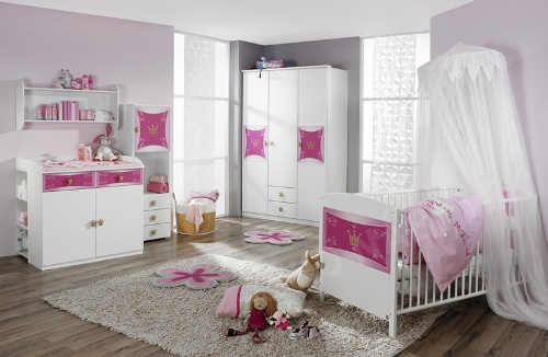 Princeznovský pokoj pro miminko