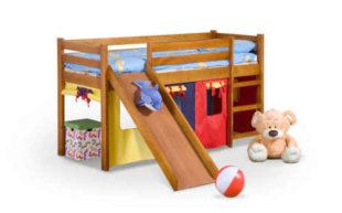 Dětská postel se skluzavkou a s matrací