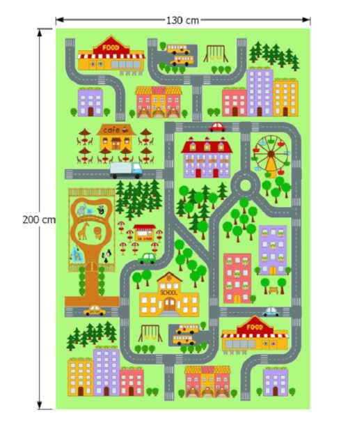 Moderní a praktický koberec do pokojíčku