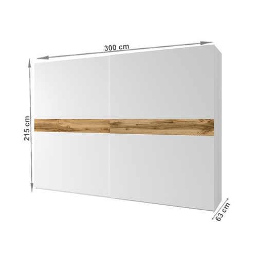 bílá skříň s posuvnými dveřmi