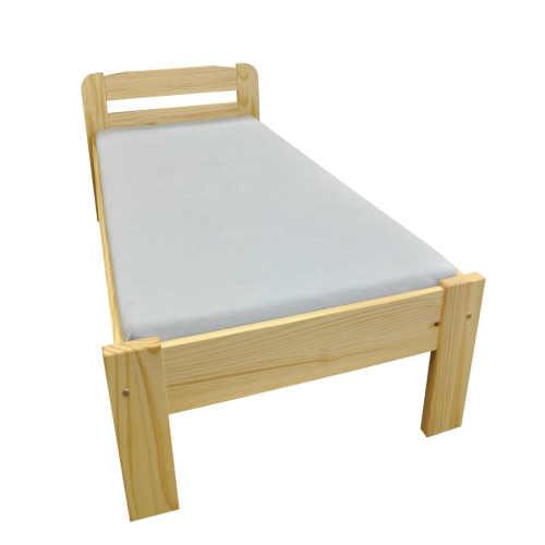 dřevěná postel pro jednoho