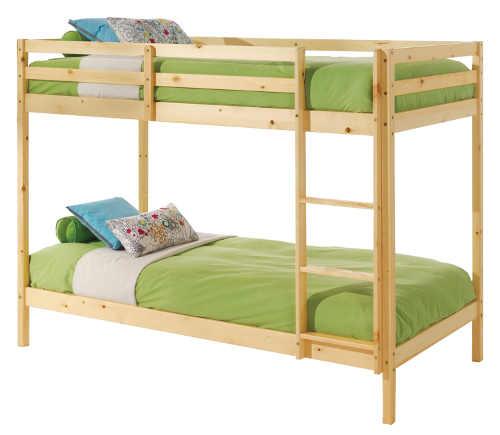 Levná dětská patrová postel smrkové dřevo
