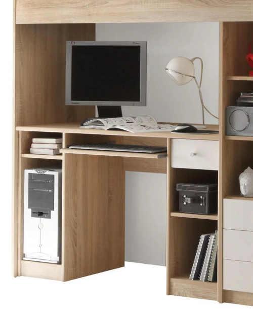 postel s psacím stolem a skříní v jednom