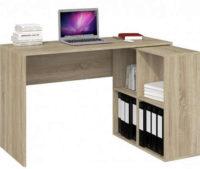 Rohový počítačový stůl s poličkami