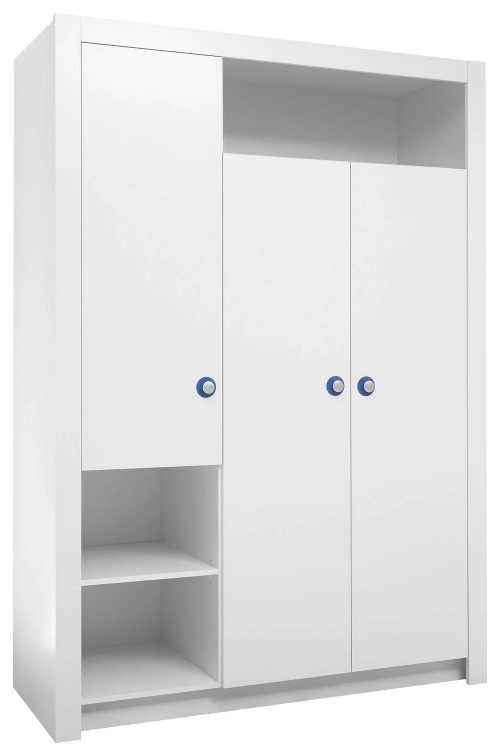 Velká bílá dětská šatní skříň