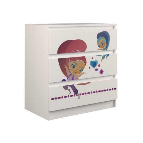 Dětská komoda s obrázkem tanečnice