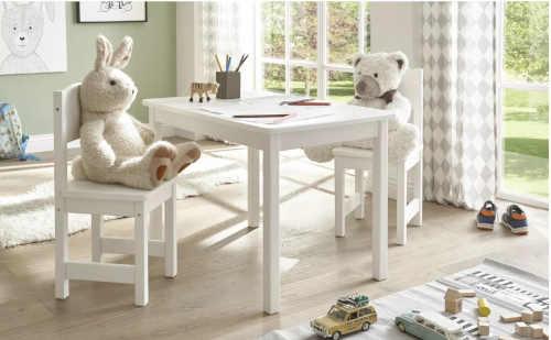 bílá dětská židle z borovice
